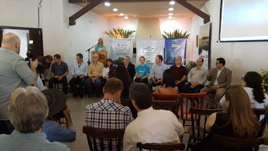Lançamento da 30ª Abertura da Colheita do Arroz foi realizada em Pelotas – RS