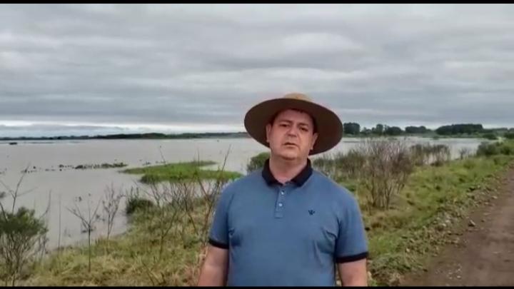 Arrozeiro de Dom Pedrito faz apelo ao governo depois das chuvas de ontem!