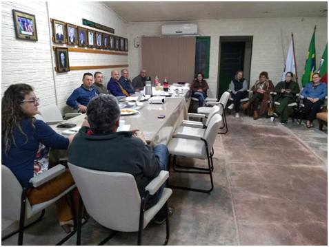 Reunião da Diretoria da Associação dos Arrozeiros
