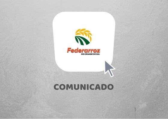 Ouça o boletim de ações da Federarroz e o alerta sobre o prazo para adequações ao  PERAI