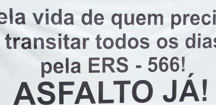 Protesto da RS 566 é destaque nos jornais da cidade