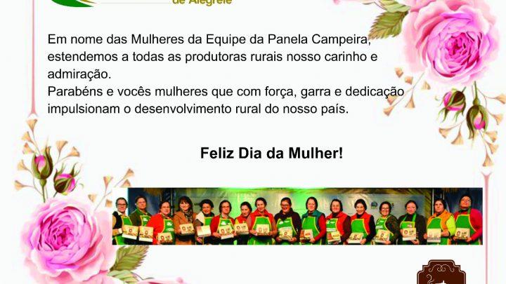 Veja a mensagem da presidente dos arrozeiros de Alegrete em homenagem ao dia internacional da mulher!