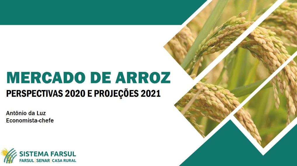 Mercado de Arroz – Perspectivas 2020 e Projeções 2021