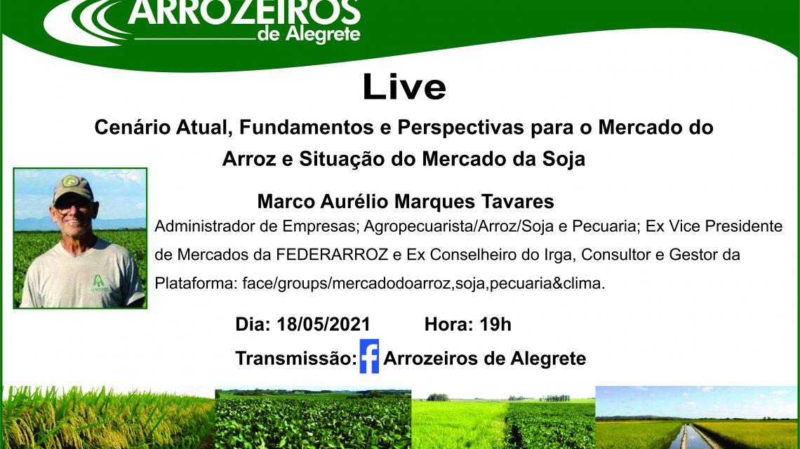 LIVE – Cenário Atual, Fundamentos e Perspectivas para o Mercado do Arroz e Situação do Mercado da Soja