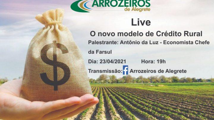 """Live com o tema """"O novo modelo para o Crédito Rural"""" com Antônio da Luz"""