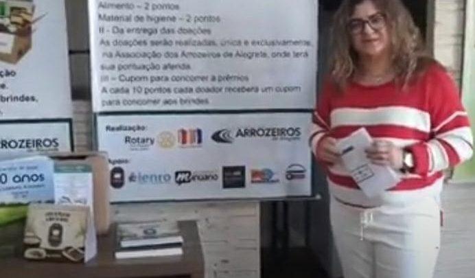 Rotary Club Alegrete Norte Centro realiza 3º sorteio da Campanha do Agasalho e do Alimento
