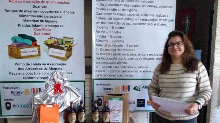 Rotary Club Alegrete Norte Centro realiza 7º sorteio da Campanha do Agasalho e do Alimento