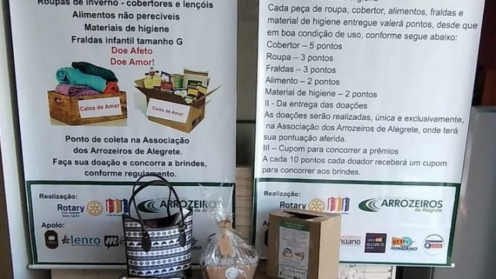 Rotary Club Alegrete Norte Centro realiza 5º sorteio da Campanha do Agasalho e do Alimento