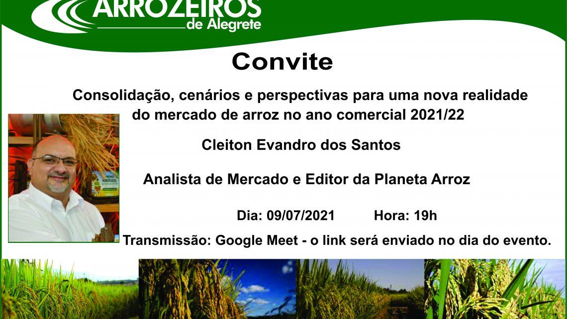 LIVE Consolidação, cenários e perspectivas para uma nova realidade  do mercado de arroz no ano comercial 2021/22