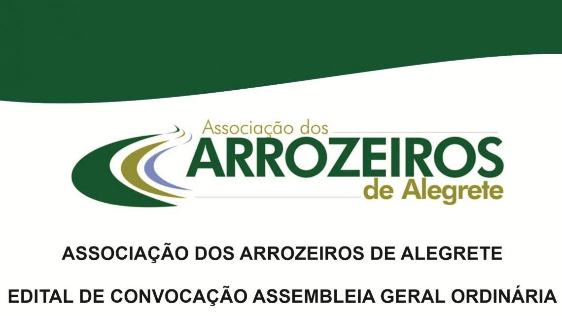 Edital de Convocação Assembleia de Prestação de Contas da Associação dos Arrozeiros – Exercício 2020