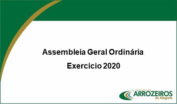 Associação dos Arrozeiros de Alegrete apresenta resultados de 2020 em Assembleia Geral Ordinária